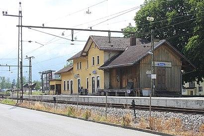So kommt man zu Bahnhof Nendeln mit den Öffentlichen - Mehr zum Ort Hier