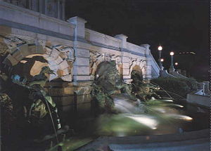 The Court of Neptune Fountain -  left
