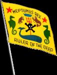 Neptunus Rex flag aboard USS West Virginia (BB-48), in July 1940.png