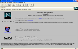 Netscape Navigator 2 - Screenshot