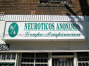Neurotics Anonymous - Neurotics Anonymous office on Sunset Boulevard between Echo Park and Downtown in Los Angeles, California.