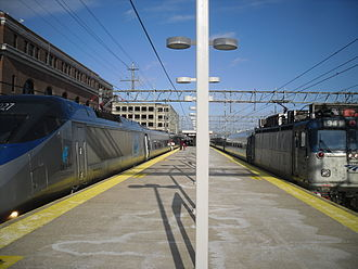 Union Station (New Haven) - Amtrak trains at New Haven