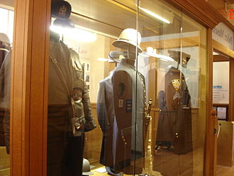 New York City Police Museum - Police uniforms on display in the museum