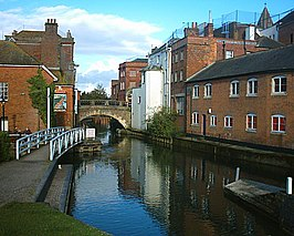 De rivier de Kennet in Newbury