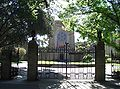 Newman College - gate and chapel.JPG