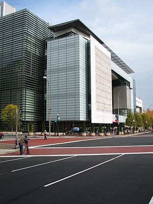 Newseum building on Pennsylvania Avenue, Washi...