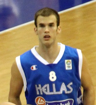 Nick Calathes is the most recent EuroLeague player to record a triple-double, doing so in 2019, and the first to record one since 2006. Nick Calathes (cropped).jpg