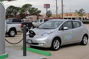 Battery electric vehicle - Image: Nissan LEAF got thirsty trimmed