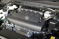 nissan qr engine wikipedia rh en wikipedia org QR25DE Performance QR25DE Engine Belt Diagram