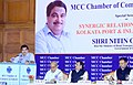 Nitin Gadkari addressing at a Special Session on 'Synergic Relation between Kolkata Port Trust and Inland Waterways', organised by the MCC Chamber of Commerce and Industry, in Kolkata on June 24, 2015.jpg