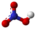 Resonance ball and stick model of nitric acid