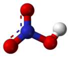 Ball-and-stick model of nitric acid
