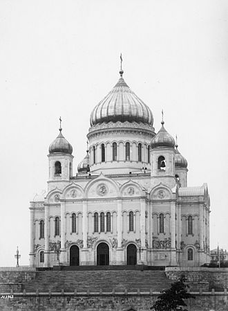 Konstantin Thon - Russia-Moscow-Cathedral of Christ the Saviour in 1902