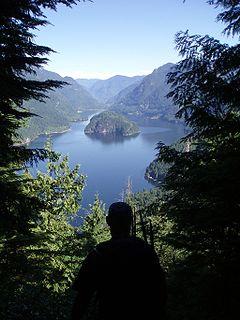 glacial fjord in British Columbia, Canada