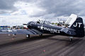 North American SNJ-4 Texan VMF-231 LSideRear SNF 16April2010 (14443796118).jpg