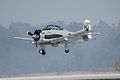 North American T-28C Trojan Sherry Berry Landing 03 TICO 13March2010 (14412899488).jpg