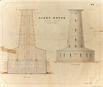 North Reef Light - Plan of the lighthouse, 1876