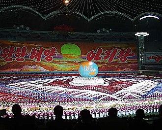Card stunt - Arirang Festival in North Korea