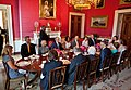 Obamas and Bushes in Red Room.jpg