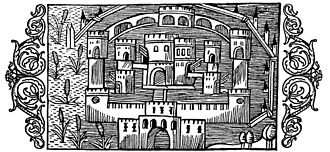 Earnaness - A woodcut of the castle by Olaus Magnus.