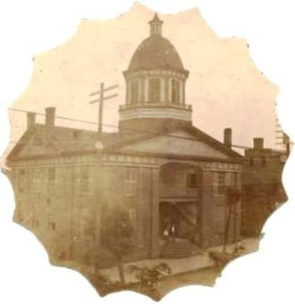East Tennessee Convention - The old Greene County Courthouse in Greeneville, where the East Tennessee Convention met in June 1861