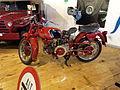 Old red Italian Moto Guzzi police motorbike.JPG