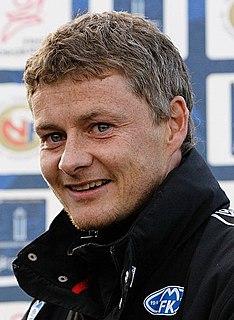 Ole Gunnar Solskjær Norwegian football manager and former player