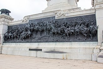 Independence or Death (painting) - Representation of the painting on the Monument to the Independence of Brazil.