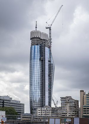One Blackfriars - One Blackfriars under construction in April 2017