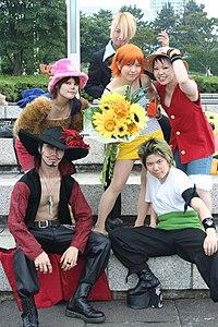 One Piece cosplayers in Yokohama 20050703.jpg