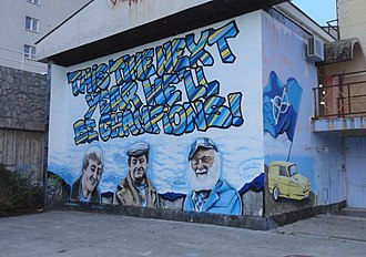 "Only Fools and Horses - Graffiti in Croatia made by HNK Rijeka supporters paraphrasing Del: ""This Time Next Year We'll Be Champions!"""