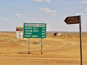 Oodnadatta - Oodnadatta Track sign
