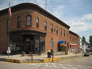 Orangeville, Illinois - The current Orangeville post office; in 1854 the village narrowly won an election over Oneco for post office location.