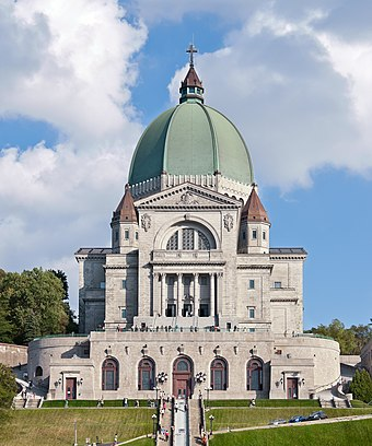 Saint Joseph's Oratory, Montreal, the largest church in Canada. Oratoire Saint-Joseph du Mont-Royal - Montreal.jpg