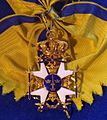 Order of the Sword grand cross badge sash (Sweden) - Tallinn Museum of Orders.jpg