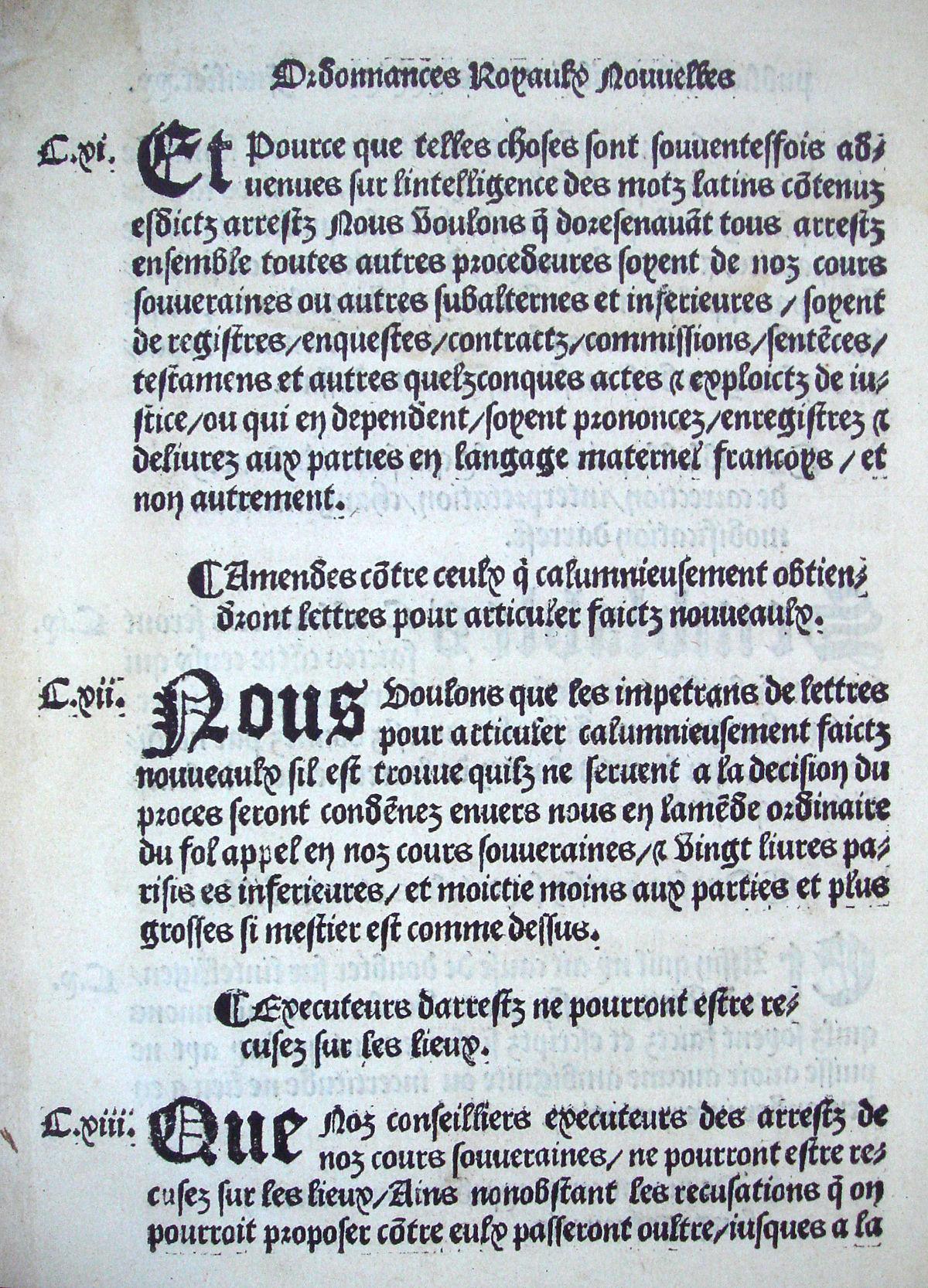 Ordonnance de Villers Cotterets August 1539.jpg