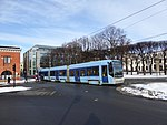 Oslo tram line 18 Dronning Eufemias gate 02.jpg