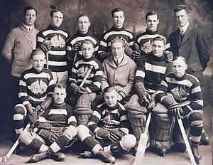 History of the National Hockey League (1917–42) - The Ottawa Senators, pictured in 1914–15, became a charter member of the National Hockey League