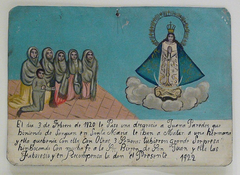 Our Lady of San Juan de los Lagos votive 1920 1922