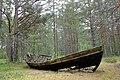 Ovīši, laiva piejūras mežā.jpg