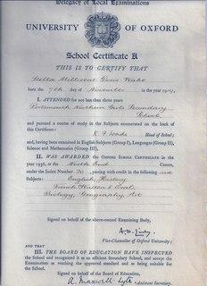 School Certificate (United Kingdom)