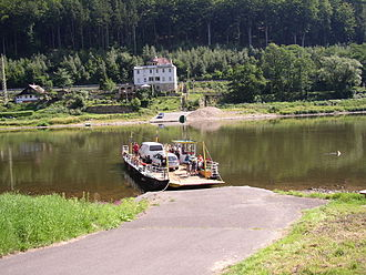 Elbe - The Dolní Žleb Ferry