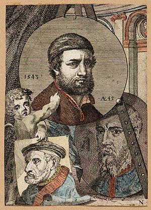Jan l'Admiral - Hendrik met de Bles - Lukas Gassel van Helmond - Hans Holbein II, illustration for the Schilderboeck