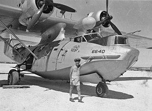 Tern Island (Hawaii) - United States Coast Guard PBY-5A at Tern in 1953