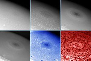 A hurricane-like storm on the south pole of Sa...
