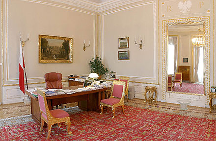 The office of president at the Presidential Palace in Warsaw. POL palac prezydencki gabinet prezydenta.jpg
