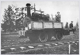Newberg, Oregon - Converted Russell traction engine of the Pacific Brick Face Co. in 1907