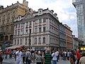 Palác městský, U Zlatého úlu (Veliký úl, U Svatého úlu) (Staré Město), Praha 1, 28. října, Na Můstku 15, Staré Město.JPG