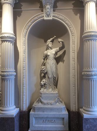 Africa - Statue representing Africa at Palazzo Ferreria, in Valletta, Malta