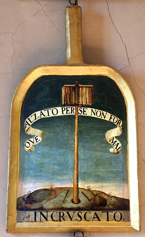 Giovanni de' Bardi - Shovel of Giovanni de' Bardi (Incruscato) at Accademia della Crusca